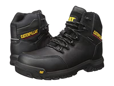 Caterpillar Resorption Waterproof Composite Toe (Black Full Grain Leather) Men