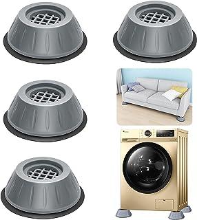 Patins Anti Vibration, 4 Pièces Pieds en Caoutchouc pour Machine à Laver Coussinets Pied de Machine à Laver Tampon Anti-vi...