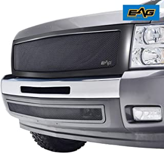 EAG Replacement Grille Black Stainless Steel Wire Mesh with ABS Shell Fit for 07-13 Chevy Silverado 1500
