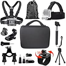 TEKCAM 11-in-1 Action Camera Accessories Bundle Kits Compatible with Gopro Hero 7 6 5..