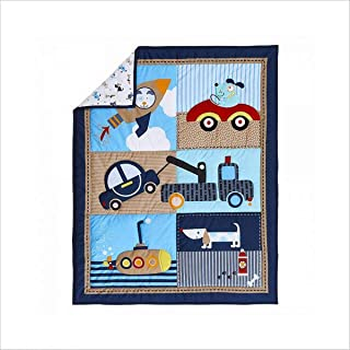 WINLIFE Crib Bedding Set for Girls & Boys Crib Quilts 33''x42'' Baby Quit (Cars)