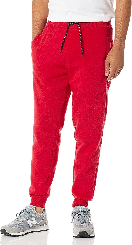 WT02 Men's Basic Jogger 3X-Large Pants Louisville-Jefferson County Mall Industry No. 1 Fleece Red