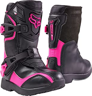 2018 Fox Racing Kids Comp 5K Boots-Black/Pink-K13