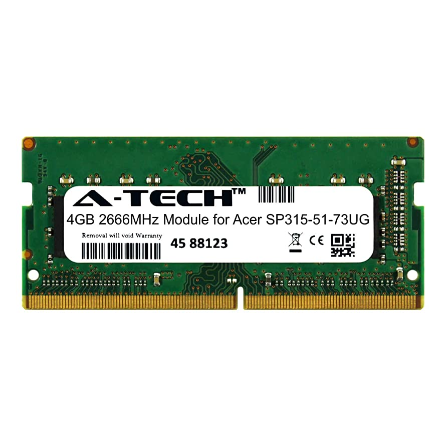 A-Tech 4GB Module for Acer SP315-51-73UG Laptop & Notebook Compatible DDR4 2666Mhz Memory Ram (ATMS396616A25977X1) wgqqjuu9131651