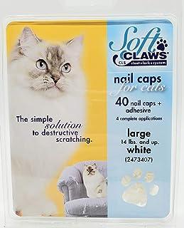 Soft Claws Feline Cat Nail Caps Take Home Kit, Large, White