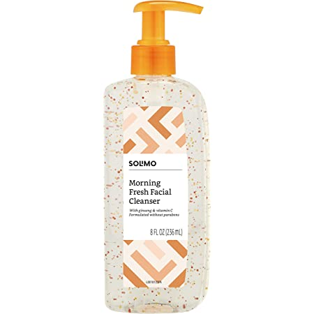Amazon Brand - Solimo Morning Fresh Facial Cleanser with Ginseng and Vitamin C, 8 fl oz