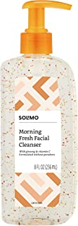 Amazon Brand - Solimo Morning Fresh Facial Cleanser with Ginseng and Vitamin C, 8 Fluid Ounce
