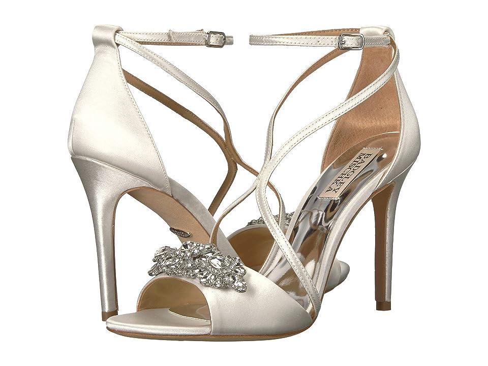 Badgley Mischka Vanessa (White Satin) High Heels