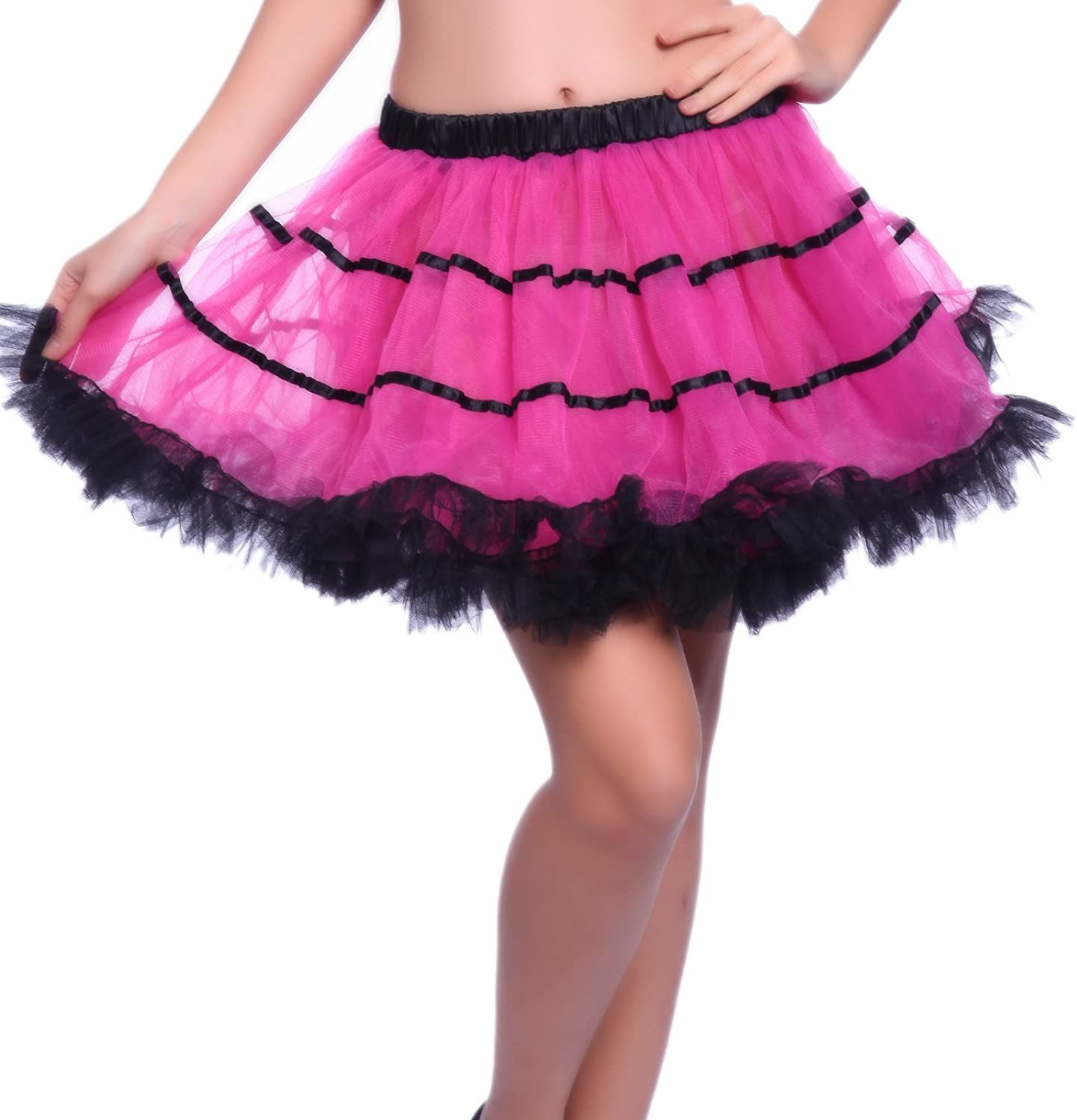 1980s Vintage Retro Swing Ruffled Rave Striped excellence RAR Tulle Gifts Layered