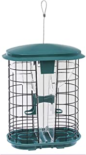 Stokes Select Squirrel-X Squirrel Resistant Bird Feeder, Hopper Feeder, Two Feeding Ports, 3.4 Pounds Bird Seed Capacity, Green