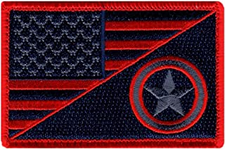 Subdued USA Flag Captain America Shield Hook Patch (MC1)