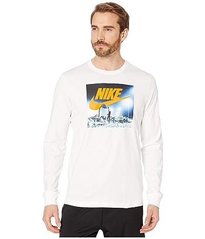 Nike NSW Long Sleeve Tee Sport Court (White/Bright Ceramic) Men