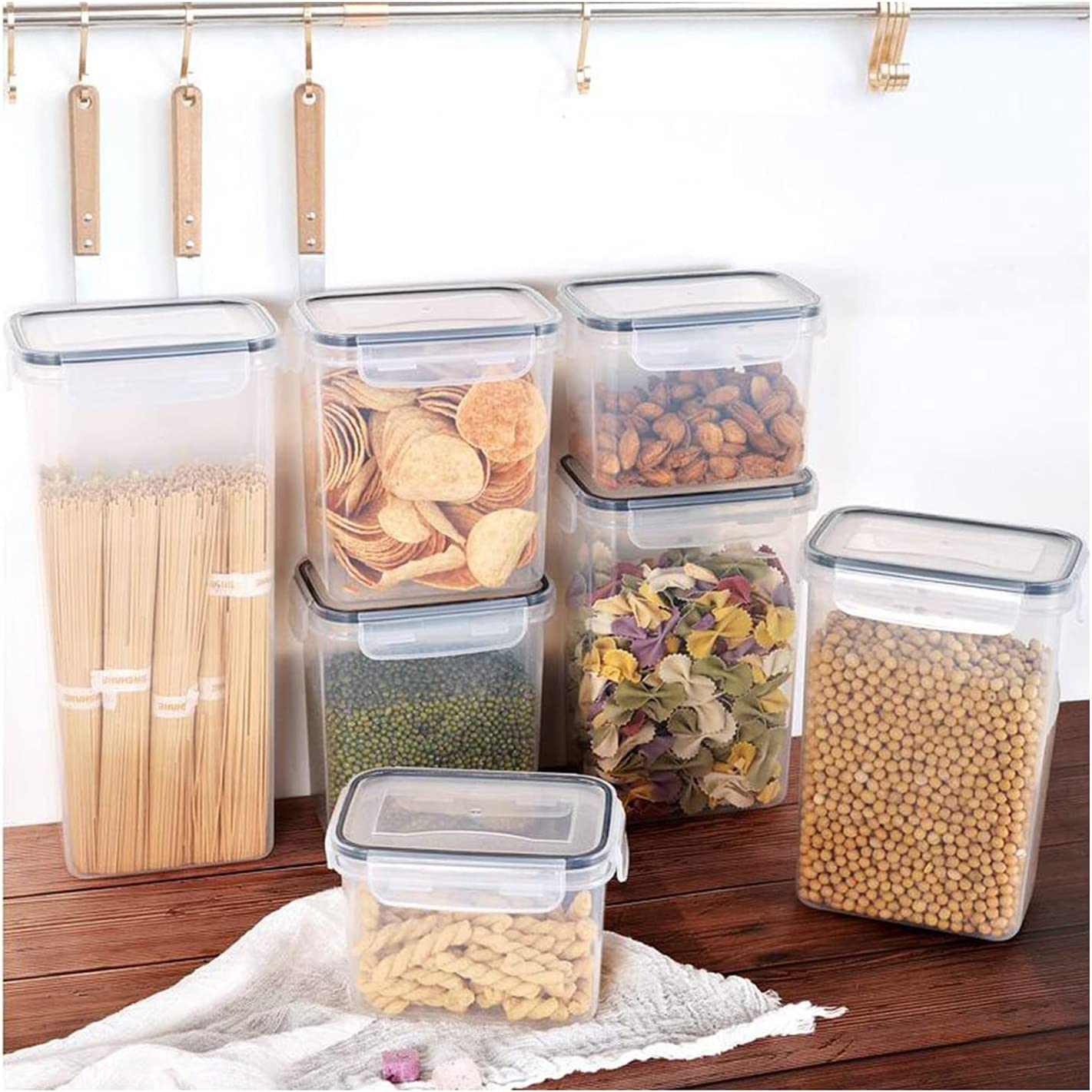 Genuine Free Shipping Airtight Food Storage Containers Set Beauty products Flour Kitchen for Canisters