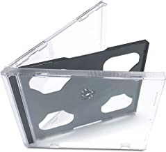 KEYIN Standard Black Double CD Jewel Case - Premium, 50 Pack