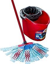 Vileda Supermocio XL Action Mop and Bucket Set, 6 x 15 x 117 cm, Red/Grey/Blue