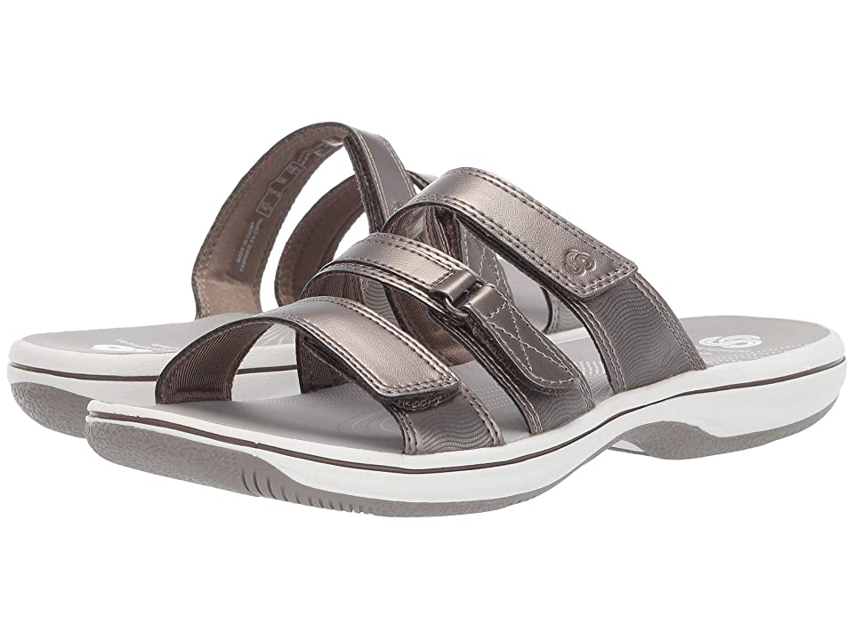 Clarks Brinkley Coast Boxed (Pewter Synthetic) Women