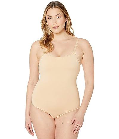 Bloch Nylon Adjustable Strap Leotard with Bra (Nude) Women