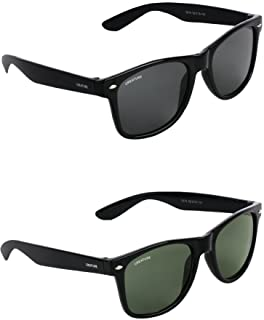Creature Black & Green Sunglasses Combo with UV Protection (Lens-Black & Green||Frame-Black & Green||SUN-001-003)