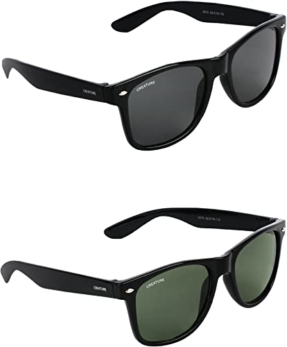 Black Green Sunglasses Combo with UV Protection Lens Black Green Frame Black Green SUN 001 003