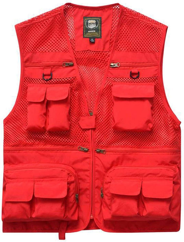 NC Outdoor Summer Tactical Vest Jacket Men's Jacket Multi-Pocket Travel Sleeveless Jacket