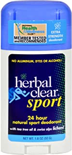 Herbal Clear - Herbal Clear Sport Deodorant Stick with Tea Tree Oil & Swiss Alps Lichen - 1.8 oz.