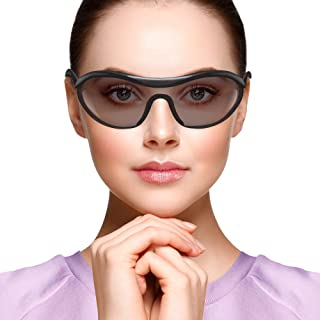ABC Pack 12 عینک ایمنی با تریم مشکی. تک سایز. ANSI ، لنزهای دودی. عینک ایمنی. شیشه های ضد مه شکن. عینک ایمنی ضد خراش. لنزهای مقاوم در برابر خراش.