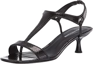 Donald J Pliner Women's Caro-VP Heeled Sandal, Black, 5.5 B US