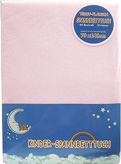 Odenw/älder 26030-320 Spannbetttuch Jersey Sterne 70x140cm pink