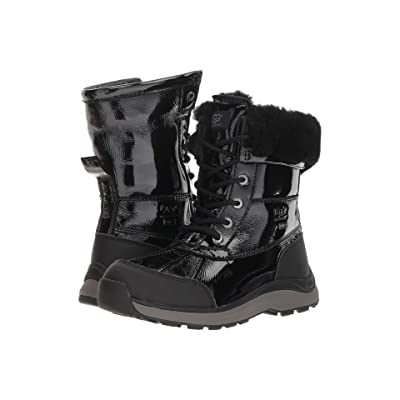 UGG Adirondack Patent Boot III (Black) Women