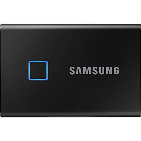 SAMSUNG T7 Touch Portable SSD 1TB - Up to 1050MB/s - USB 3.2 External Solid State Drive, Black (MU-PC1T0K/WW)