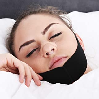 Anti Snoring Chin Strap with Bonus Nose Clip and Nasal Strips - Complete Snoring Solution to Stop Snoring and Restore Sound, Restful Sleep - 100% Money Back Guarantee