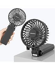 携帯扇風機 【2019年最新改良モデル】手持ちUSB扇風機 充電式 「4in1機能搭載」 USB扇風機 5200mAhモバイルバッテリー内蔵 折り畳みスタンド機能 最大20時間動作 5段階風量調節 卓上扇風機 ハンディファン グリップ扇風機 6枚羽根 超静音 USBファン ミニ 小型 熱中症 暑さ対策 オフィス アウトドア用 【PSE認証済】