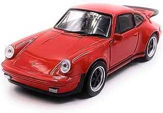 Onlineworld2013 Porsche 911 Turbo 930 Modelo de Auto Deportivo Auto Auto Escala roja 1:34 (con Licencia)