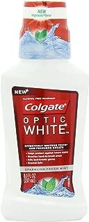 Colgate Optic White Mouthwash Sparkling, Fresh Mint, 8 Fluid Ounce