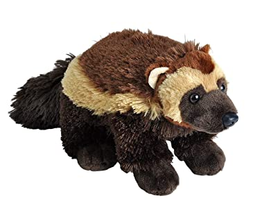 Wild Republic Wolverine Plush, Stuffed Animal, Plush Toy, Gifts for Kids, Cuddlekins 12 Inches, Multicolor