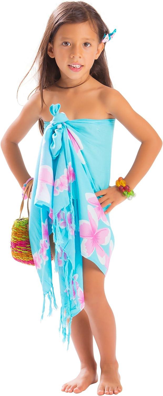 favorite 1 Max 55% OFF World Sarongs Girls Half Plumeria Sarong