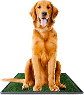 Ideas In Life Pet Dog Potty Pee Pad Bathroom Turf Grass Relief System - Durable Weather Proof, Synthetic Grass, Housebreaking, Portable, Easy to Clean, Non-Toxic, Perfect for Indoor and Outdoor