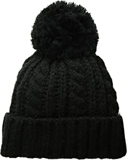 26363559160 Hat attack chevron knit long loop black