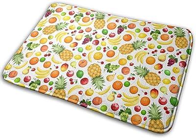 Various Fruits Carpet Non-Slip Welcome Front Doormat Entryway Carpet Washable Outdoor Indoor Mat Room Rug 15.7 X 23.6 inch