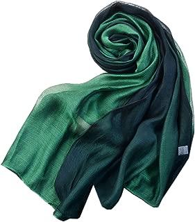 Cotton Silk Scarf Elegant Soft Wraps Color Shade Scarves for Women
