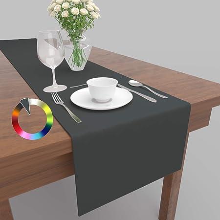 altrosa 33x160 cm Tischl/äufer Tischband Fleckschutz Lotus Effekt Garten Leinenoptik abwaschbar in 3 Gr/ö/ßen und 14 Farben Farbe