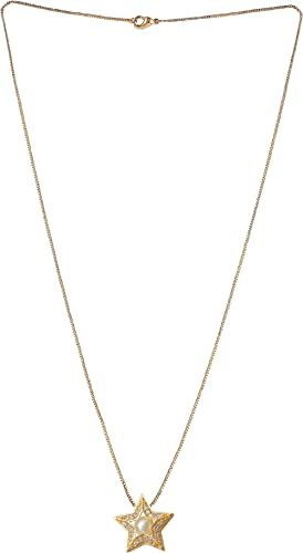 Brado Jewellery Gold Plated American Diamond Necklace Valentine Gift for Girls Golden Chain Pendant for Women and Girl's
