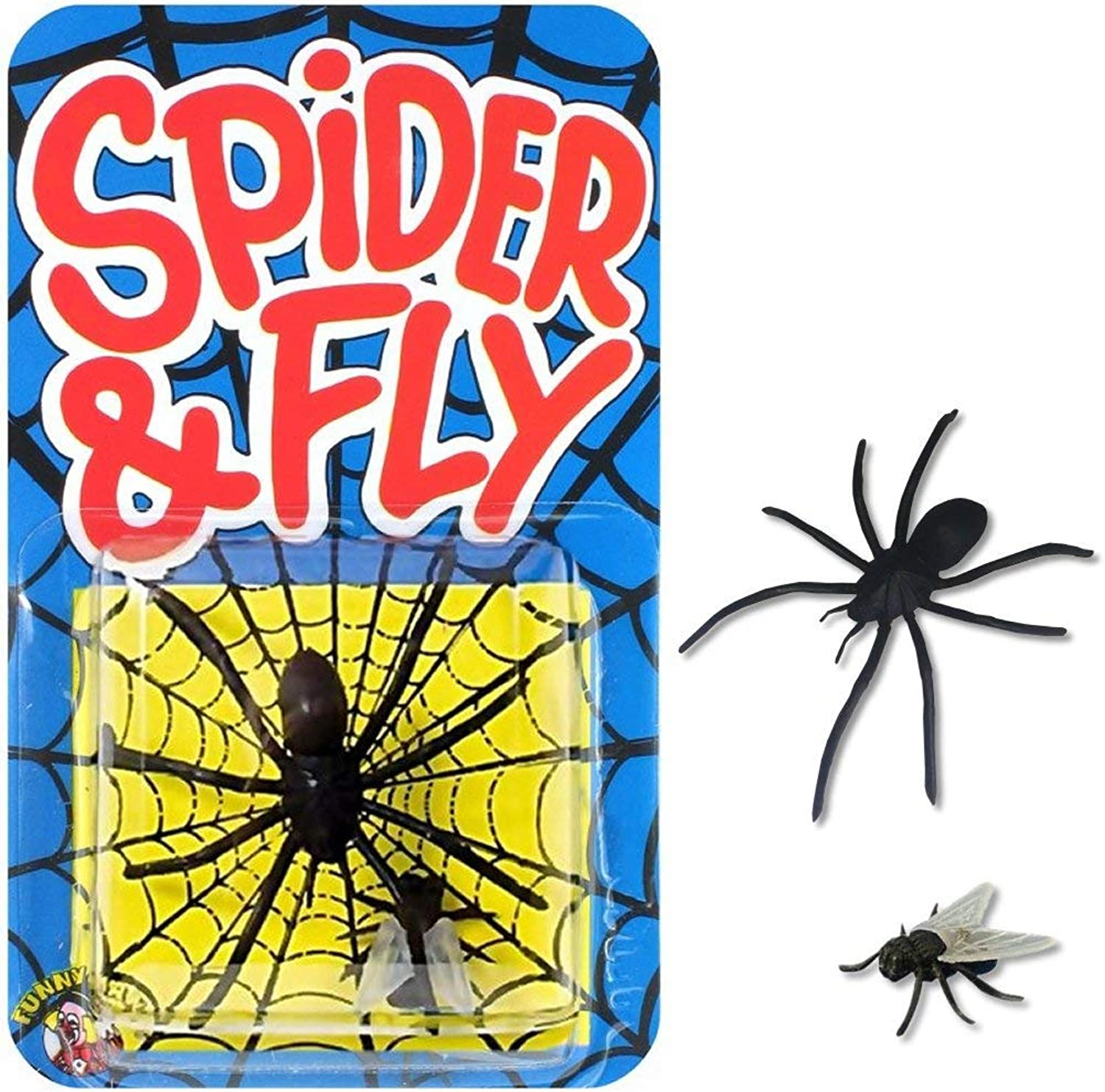Novelty Joke Gag Trick Spider and Fly By Funnyman x 1 for Party Bag Filler Favor by Pams