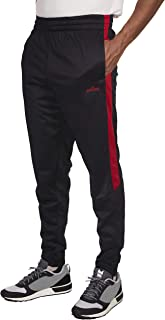 Mens Tricot Athletic Fit Side Stripe Sports Training Jogger Pants