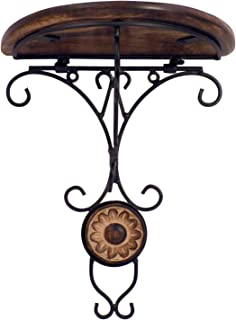 Jungle Art Combo/Pair of Wooden Wall Bracket Wall Hanging Decor for Living Room, Brown