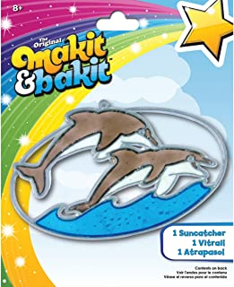 Colorbok Makit and Bakit Suncatcher Kit, Dolphins