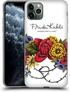 Official Frida Kahlo Bunch Red Florals Soft Gel Case Compatible for iPhone 11 Pro Max
