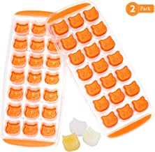 Cat Face Ice Cube Trays Silicone Molds Set of 2, Gifbera Animal Kitty Cat Silicone Jelly Candy Reusable Ice Cubes Maker Mold Easy Release BPA Free, LFGB Certified and Dishwasher Safe