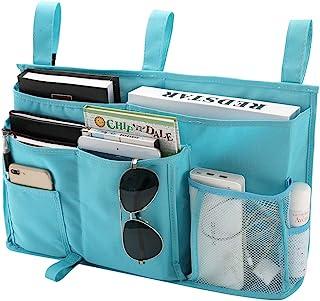 Bseash Caddy Hanging Organizer Bedside Storage Bag for Bunk and Hospital Beds 600D Oxford cloth Dorm Rooms Bed Rails(8 Poc...