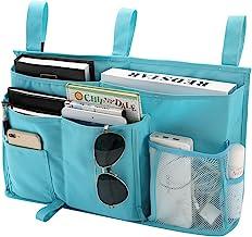 Bseash 8 Pockets 600D Oxford Cloth Caddy Hanging Organizer Bedside Storage Bag for Bunk and Hospital Beds,Dorm Rooms Bed R...